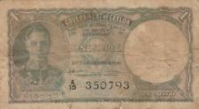 Government Of Ceylon One (1) Rupee Note
