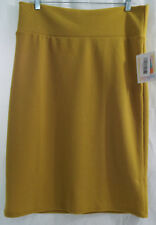 Womens LuLaRoe Cassie Skirt XL Mustard Yellow  NWT