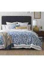 Dwell Studio King Duvet Cover Oaxaca Prussian Cotton Modern Home Decor Bedding