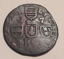 1 Liard  1746 Jean-Théodore de Bavière Liège Belgique Belgïe Belgium Pays-Bas B+