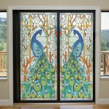 Static Cling Window Films Flower Stained Frosted Glass Sticker Door Home Decor