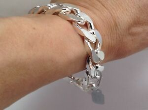 Solid Silber Chunky English Hallmark nagelneu Herren Armband 82 Gramm 9 Zoll