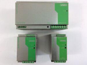 3er Set Phoenix Contact Netzteile ua mit 1x QUINT-PS-3x400-500AC/24DC/40
