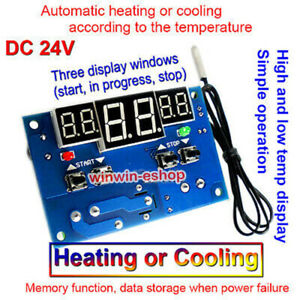 DC 24V 10A Intelligent Digital Display Thermostat Temperature Controller Switch