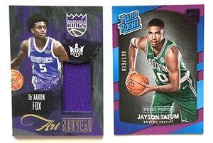 2017-18 Panini Donruss #198 Jayson Tatum /199 & Court Kings De'Aaron Fox Rookies