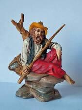PRESEPIO LANDI 14/10 pescatore vecchia statuina plastica Nativity