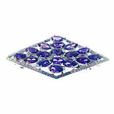 USA BARRETTE use Swarovski Crystal Hair Clip Hairpin Elegant Jeweled Purple K02
