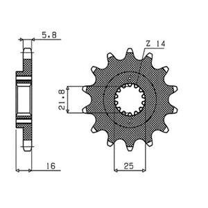 MS-CACF6F2EDB PIGNONE S+2 AC P520-D15   92/93 DB2 900 BIMOTA  ST 54.5260415
