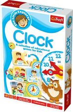 Educational Clock Game Childrens Learn To Tell The Time Card Toy Teaching Aid