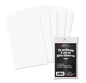 10 BCW Tall Trading Card Dividers - read description for shipping.