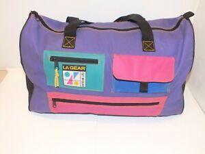 Vintage LA Gear Vapourwave Duffle Bag Green Pink Purple Prop 80 / 90s Sports