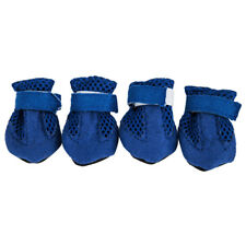 Anti Slip Unisex Pet Dog Waterproof Shoes Protective Rain BOOTS BOOTIES Sock Blue L
