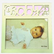 Cornice in legno bianca BABY GIRL bambina 20x20cm by VIRCA