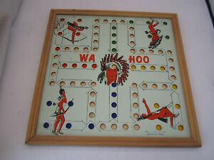 Vintage Wa-Hoo Indian Game Board Creative Designs, Henderson, TX Framed 15x15