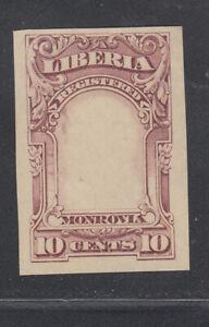 Liberia # F13 IMPERF PROOF Of FRAME in MAGENTA 1903 Registration Set