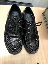 Underground Creepers Patent Leather Glossy Dark Brown  - Size UK 7 Eur 41