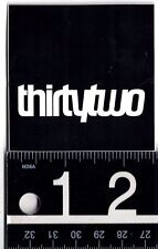 THIRTYTWO SNOWBOARD STICKER Thirtytwo 32 Snowboard Black 2.5 Square Inch Decal