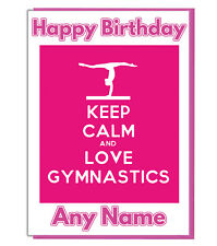 Personalised Gymnastics Birthday Card - Daughter Son Girls Mum Best Friend