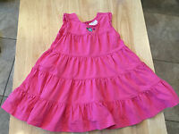 Hanna Andersson 80 Girl Pink Dress Size 12-24 Month Ruffles