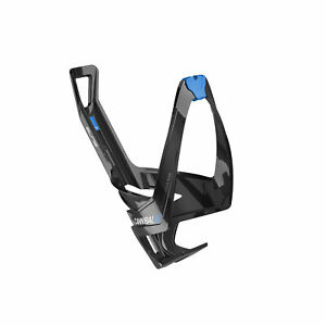 Elite Cannibal XC Bottle Cage, Black Glossy - Blue Graphic