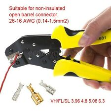 JX-1601-08 Ratchet Terminal Crimper Plier Wire Cable Pin Plug Clamp Tool