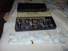 NOS In Box 1998 Nicole Miller Chicago Motiff CUMMERBUND Suspender & BOW TIE Set