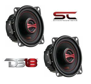 """PAIR DS18 GEN-X4 4"""" Car Coaxial 120 W 4 Ohm Fullrange Dash/Door Speakers Grills"""
