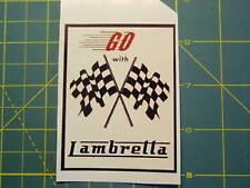 LAMBRETTA Vespa Scooter GO WITH LAMBRETTA Sticker GP,TV,LI,SX,GT. 200