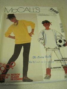 McCALL'S 2100 GIRLS' TOP & PANTS The GAP Sewing Pattern  Sz 10 1985 UNCUT VTG