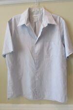 Van Heusen Blue Pin Stripe Short Sleeve Shirt size 161/2