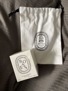Diptyque Roses Candle 70g New in Box Sealed + Free Diptyque Cotton Sachet