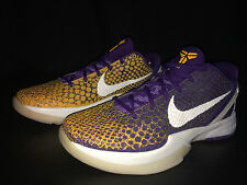 NIKE ZOOM KOBE VI 6 GRADIENT CLUB PURPLE/WHITE-DEL SOL 429659 502 SIZE 10