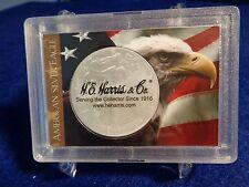 American Silver Eagle Frosty Case Holder 2x3 With Eagle & U.S.Flag, H.E.Harris