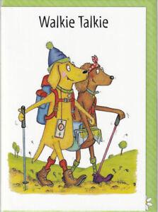 Walkie Talkie Greetings Card - The Compost Heap birthday hiking trekking walking