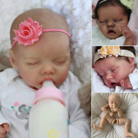 Unpainted Reborn Dolls Silicone Mould Sleeping Preemie Baby Doll Toddler Kit 18""