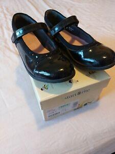 Girls Startrite black patent school shoes size 13.5