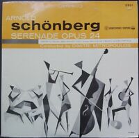 Schoenberg - Serenade op. 24, MITROPOULOS, Everest Esoteric, NEW SEALED, STEREO