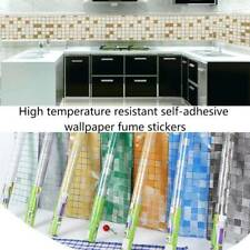 Kitchen Waterproof Oil Proof Aluminum Cabinet Stickers Foil Self Adhesive Wall@
