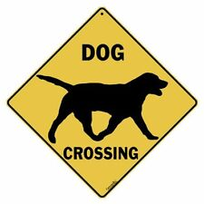 Dog Silhouette Crossing Sign New 12X12 Metal