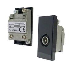 Triax Modular Blende einzeln IEC Stecker Typ Einsatz Modul schwarz