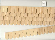 SHINGLE STRIPS FISHSCALE 7405  1/12 scale dollhouse roofing wood Houseworks 12pc