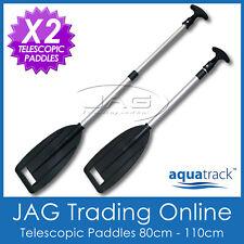 2 x HEAVY DUTY TELESCOPIC ALUMINIUM OARS PADDLES - Boat/Kayak/Canoe/Inflatable