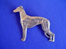 Greyhound whippet pin Standing pewter #10B Sighthound Jewelry by Cindy A. Conter