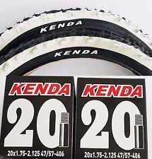 2x Kenda 20 Zoll Reifen schwarz/weiß K-829 20x2,0  (50-406) MTB 2 Schläuche