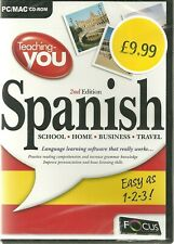 Teaching You Spanish 2nd Edition PC MAC CD ROM Language Learning Software New