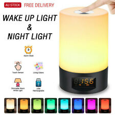 Wake-up Light Alarm Clock LED Touch Light Colorful Night Lamp