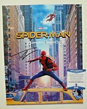 Tom Holland Autographed Signed 12x18 Spiderman Photo Beckett Certified