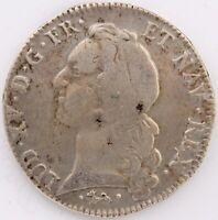 LOUIS XV ECU AU BANDEAU 1756 L