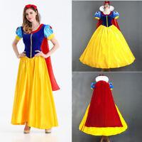 Adult Snow White Cosplay Costume Ladies Princess Fancy Dress Petticoat Headband