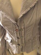 White House Black Market Corduroy Gray Jacket Ladies SZ Small 4